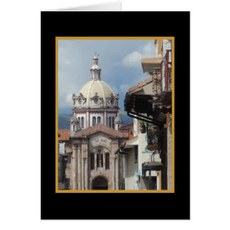 クエンカエクアドル- Iglesia deサンBlas wののどのマット カード