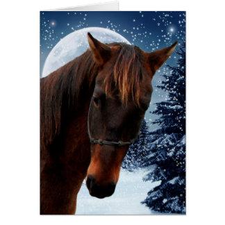 クォーター馬のクリスマスカード カード