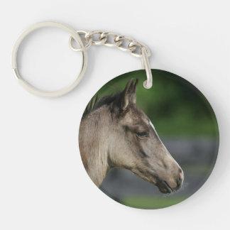 クォーター馬の子馬のHeadshot キーホルダー
