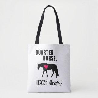 クォーター馬、100%年ハート-西部の喜びの トートバッグ