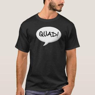 クォード! スピーチの泡 Tシャツ