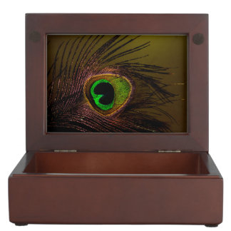 クジャクの孔雀の鳥 ジュエリーボックス