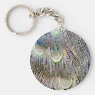 クジャクは色を紛砕する大きい目に羽をつけます キーホルダー