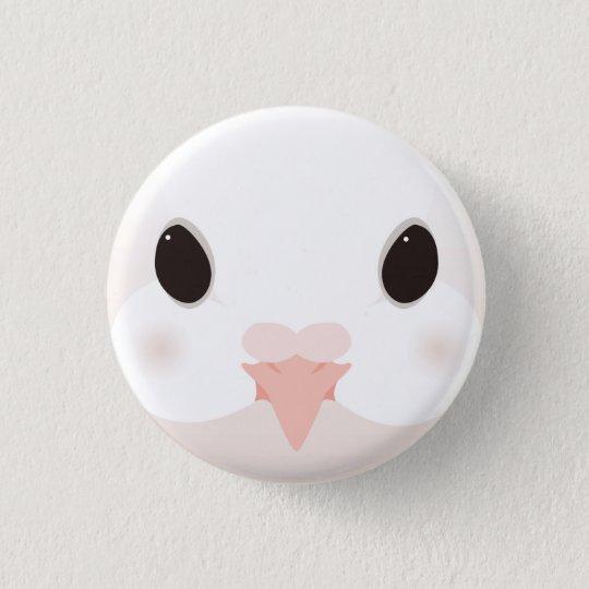 クジャクバト-Fantail pigeon 3.2cm 丸型バッジ