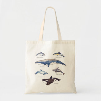 クジラおよびイルカ種のバッグ トートバッグ