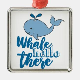 クジラこんにちはそこに メタルオーナメント