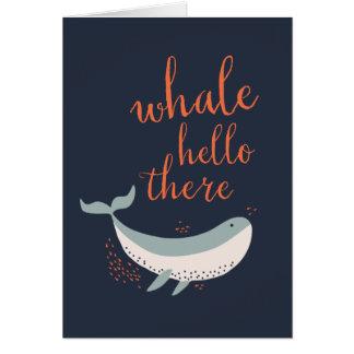 クジラこんにちは カード