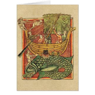 クジラで難破するボート カード