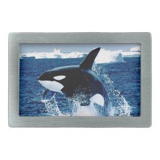クジラのしぶき 長方形ベルトバックル