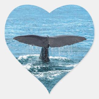 クジラのひれ ハートシール