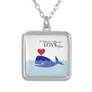 クジラのバレンタインデーのネックレス シルバープレートネックレス