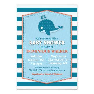 クジラのベビーシャワーの招待状 カード