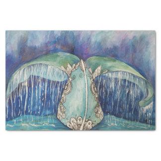 クジラの尾ティッシュ 薄葉紙