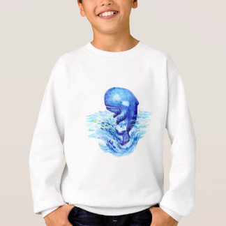 クジラの水彩画 スウェットシャツ