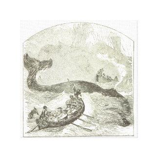 クジラの狩り-キャンバスのプリント キャンバスプリント