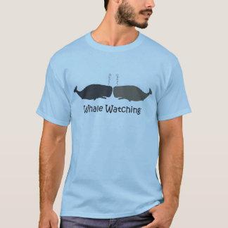 クジラの監視ツアー・ガイドのおもしろTシャツ Tシャツ