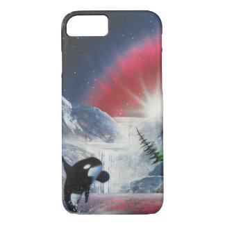 クジラの私電話箱を破る冬 iPhone 8/7ケース