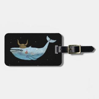 クジラの絵 ラゲッジタグ