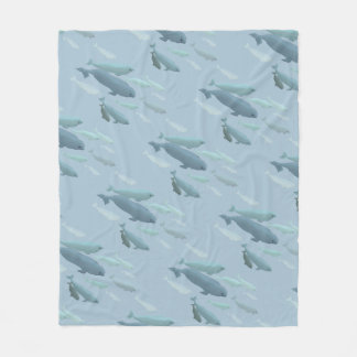 クジラの総括的なシロイルカのクジラの芸術のフリースブランケット フリースブランケット