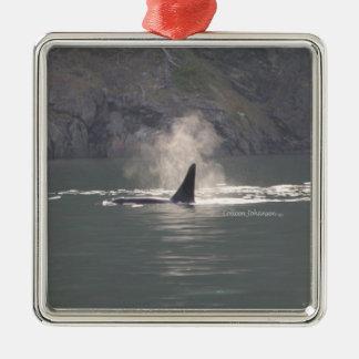 クジラの金持ちサンファンのシャチのクジラの呼吸霧 メタルオーナメント