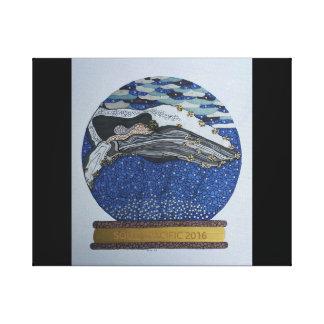 クジラの雪の地球のキャンバス キャンバスプリント