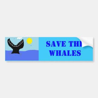 クジラの飛び込み(2) バンパーステッカー