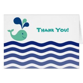 クジラは感謝していしています カード