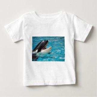 クジラを救って下さい ベビーTシャツ