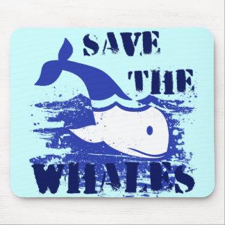 クジラを救って下さい マウスパッド