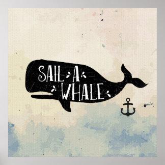 クジラを航海して下さい ポスター