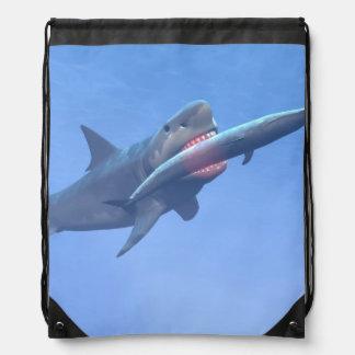 クジラを食べるMegalodon ナップサック