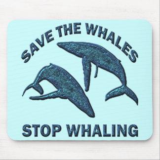 クジラ停止捕鯨を救って下さい マウスパッド