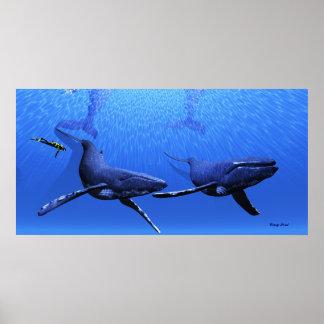 クジラ01のプリント ポスター