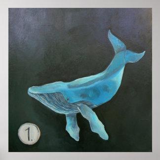 クジラ1 -プリント ポスター