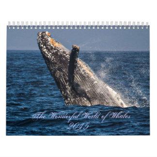 クジラ2015のカレンダーのすばらしい世界 カレンダー