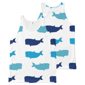 クジラ オールオーバープリントタンクトップ