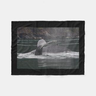 クジラ フリースブランケット
