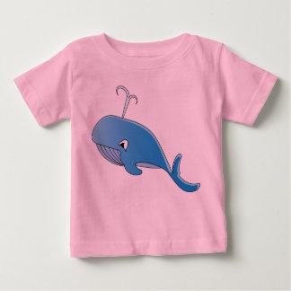 クジラ-赤ん坊の素晴らしいジャージーのTシャツ ベビーTシャツ