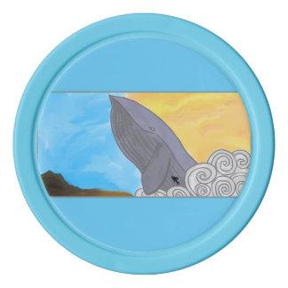 クジラ、魚および要素 ポーカーチップ