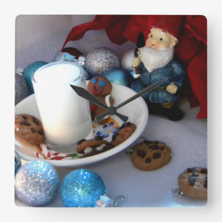 クッキーおよびミルクの格言II スクエア壁時計