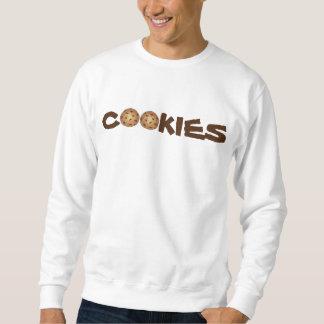 クッキーのチョコチップクッキーのグルメのスエットシャツ スウェットシャツ
