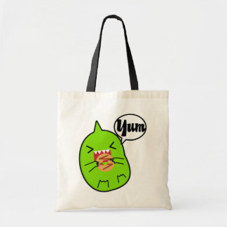 クッキーのバッグを持つ緑モンスター トートバッグ