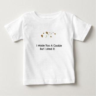 クッキーのパン粉とのおもしろいな引用文 ベビーTシャツ