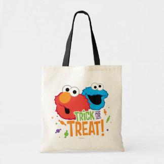 クッキーのモンスターおよびElmo -トリック・オア・トリート トートバッグ