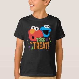 クッキーのモンスターおよびElmo -トリック・オア・トリート Tシャツ