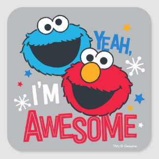 クッキーのモンスター及びElmo |ええ、私は素晴らしいです スクエアシール