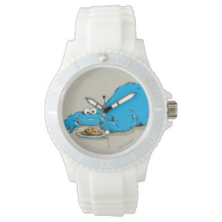 クッキーのヴィンテージのクッキーモンスターのプレート 腕時計