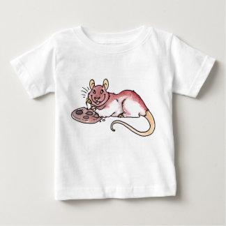 クッキーの乳児のTシャツを持つラット ベビーTシャツ