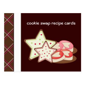 クッキーの交換のレシピカード ポストカード