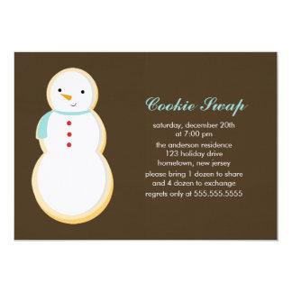 クッキーの交換の招待状 カード